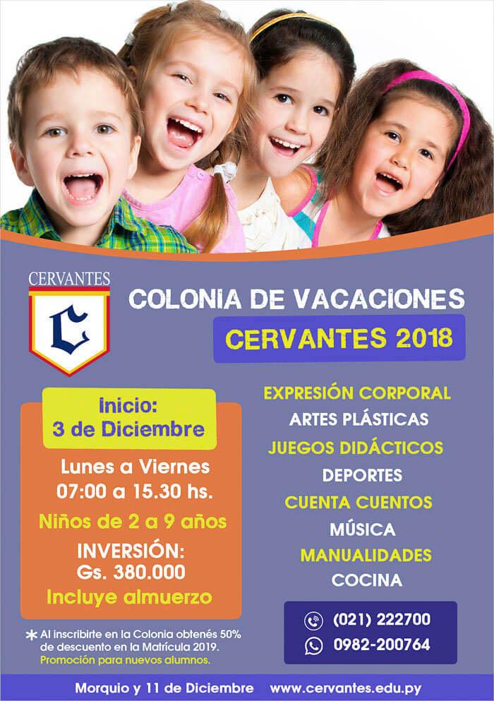 Colonia de Vacaciones Cervantes 2018
